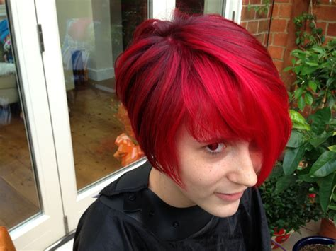 cherrywood natural short hair the best red hair colour a vibrant cherry red colour
