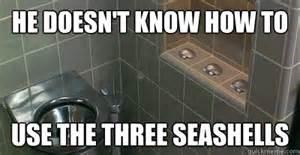 How Do I Use A Bidet Three Seashells Memes Quickmeme