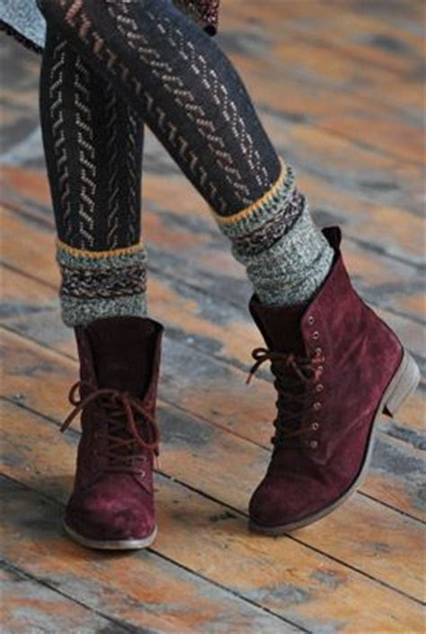patterned tights boots suede lace up ankle boots socks and patterned tights