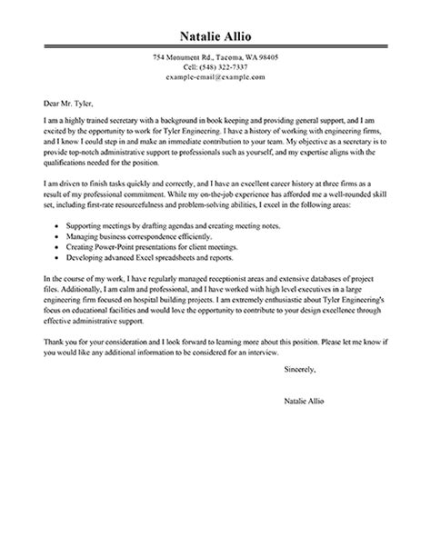 big secretary cover letter exle business pinterest