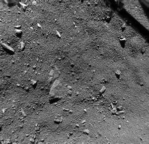 what comet 67p looks like from 30ft away daily mail