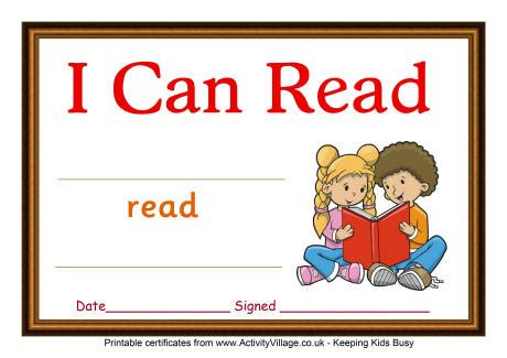 where can i read reading certificate i can read