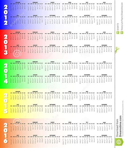 5 year calendar calendar template 2017