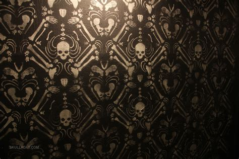 gothic home decor uk bonus 408 skeleton damask