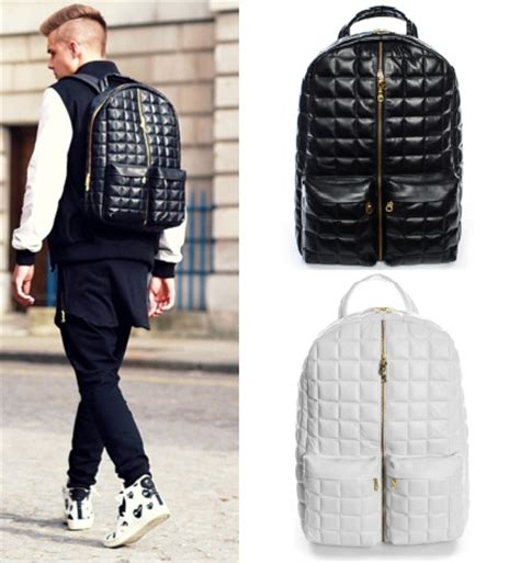 unique cool quilted leather backpack swag brand designer