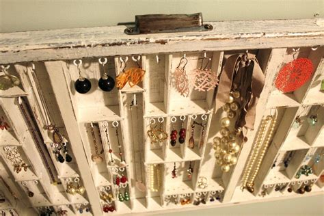 jewelry holder white rustic