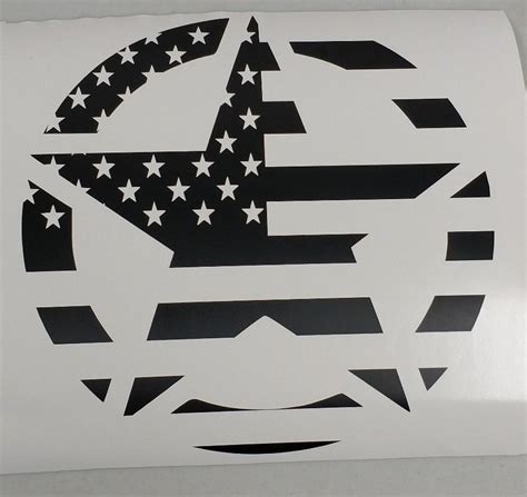 jeep wrangler military decals military star american flag decal 1 20 quot jeep ford