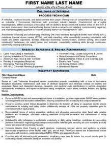 process technician resume sample amp template