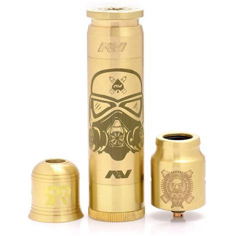 Av X Complyfe Battle Deck Style Clone Vape Rda av able style mechanical mod brass kit w complyfe battle style rda