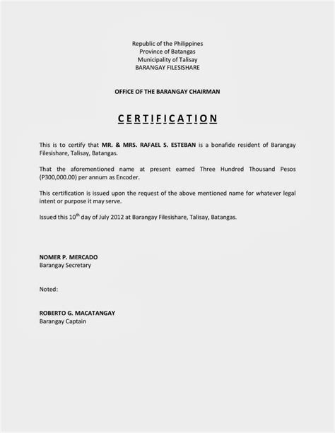 Income Certificate On Letterhead 11 best hr letter formats images on cv