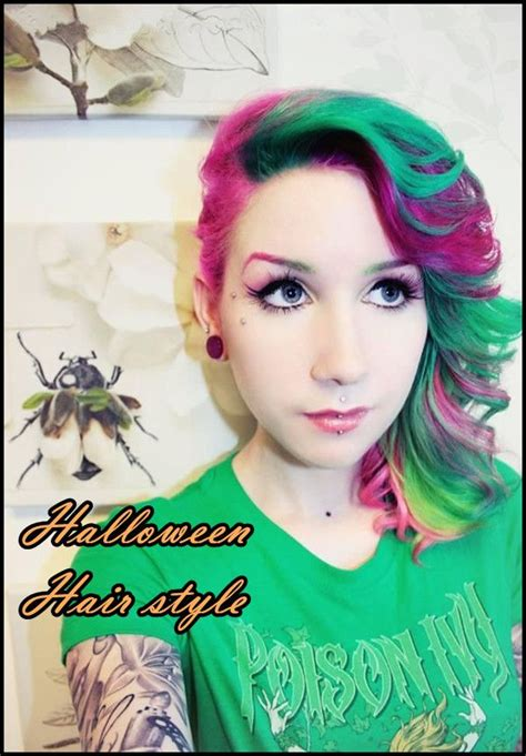 halloween hairstyles diy diy halloween hairstyles rainbow dyed ombre hair