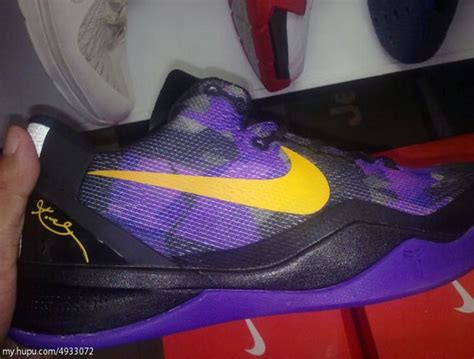 lakers house shoes nike kobe viii quot lakers quot purple yellow sneakernews com