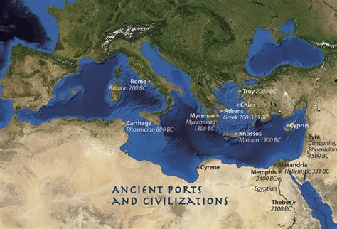 ancient mediterranean sea map shipwrecks offer clues to ancient cultures woods hole