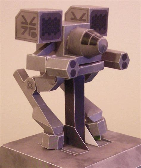 Mechanical Papercraft - walking papercraft mech warrior 20 steps with pictures
