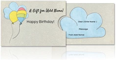 Free Templates For Birthday Gift Card Holders by Free Diy Custom Gift Card Holders