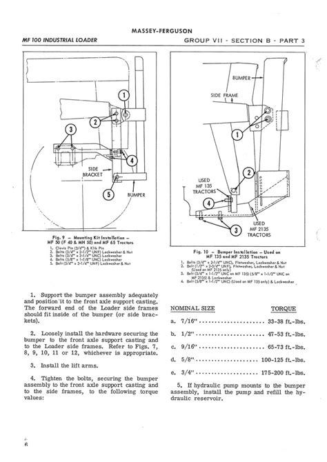 Massey Ferguson MF100 MF200 Loader Service Manual