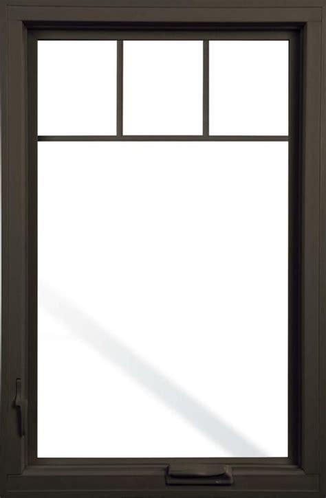 pella black casement windows pella impervia fiberglass casement window with top grill