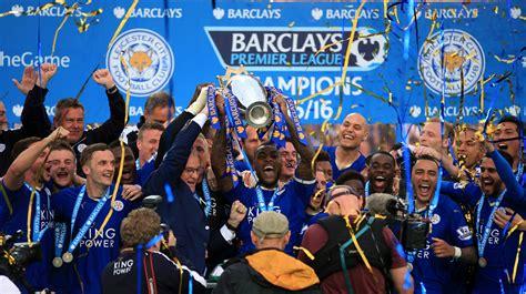 Premier League Winning Money - leicester city lift the premier league trophy central itv news