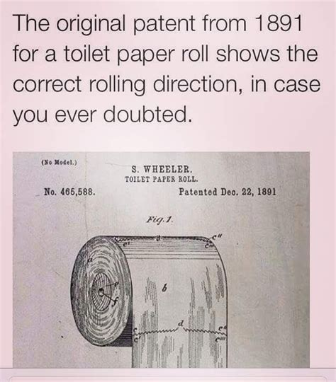 how to hang toilet paper the 1891 patent finally settles the debate about which way