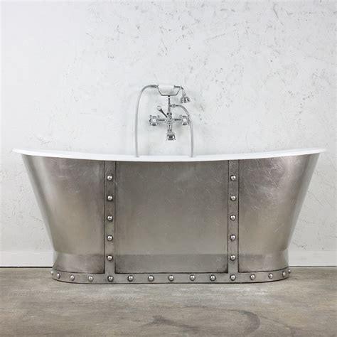 silver bathtub the tintagel 68 quot cast iron french bateau tub with