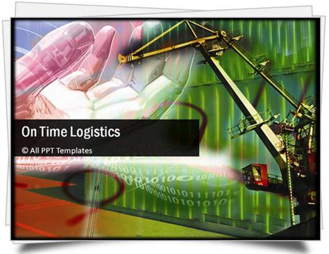 logistics powerpoint template powerpoint logistics template sets