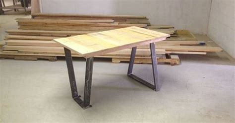 kitchen island legs metal 169 99 trapezoid metal table legs by blueridgemetalworks