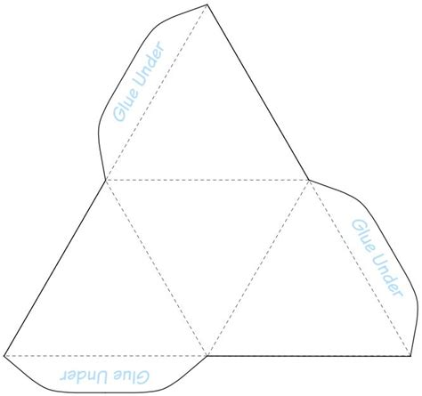 How To Make A Three Sided Pyramid Out Of Paper - 46 best images about 3d geometric box templates on