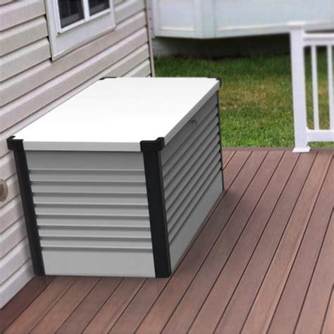 re de patio en aluminium coffre de jardin en m 233 tal blanc 750l patio box 1 06m 178