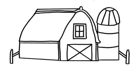 Barn Coloring Pages For Kids Coloring Home Barn Coloring Page