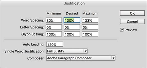 Indesign Justification Letter Spacing The Complete Guide To Word Spacing Creativepro