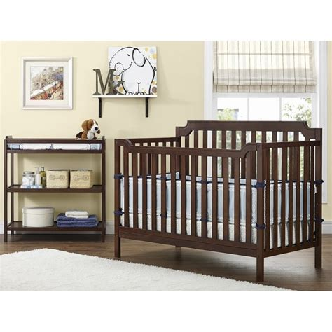 Grey Baby Crib With Changing Table Baby Relax 2 In 1 Crib And Changing Table Combo In