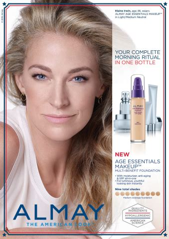 News Loreal Almay Coty Kiehls by Elaine Irwin To Front New Almay Age Essentials Collection
