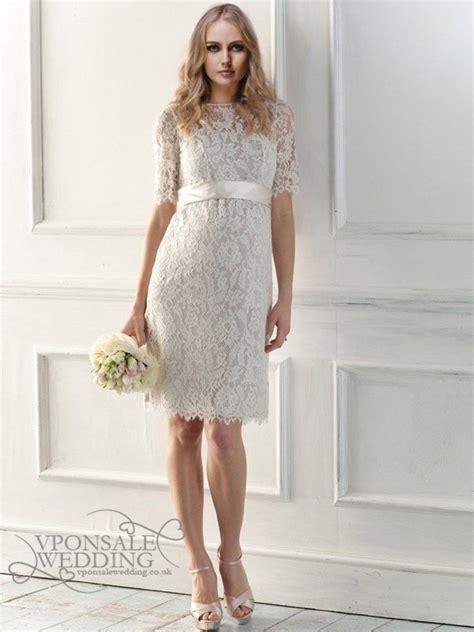 illusion neckline full short wedding dress dbw017