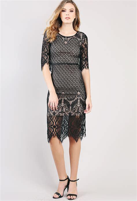 Eyelash Hem Dress eyelash lace hem mini dress shop midi dresses at papaya clothing