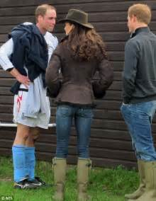 Sticking the boots in kate and harry chat to prince william following