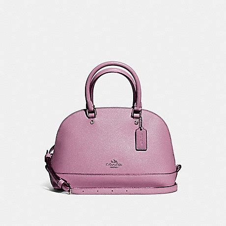 Tas Coach Original Coach Mini Teal Glitter coach f11927 mini satchel in glitter crossgrain leather silver lilac coach handbags