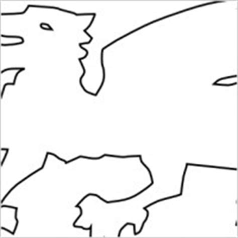 the gallery for gt welsh dragon outline