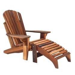Muskoka Chair Handcrafted Adirondack Cedar Footrest Amp Adirondack Cedar