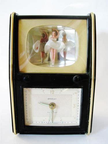 vintage bradley clock ballerina  box television alarm