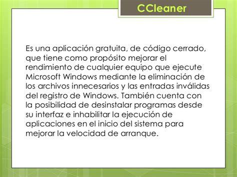 ccleaner que es accesorios de windows ccleaner virus antivirus