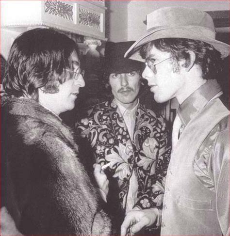 john with george and friend