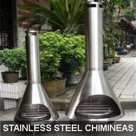 Stainless Steel Chiminea Chiminea Melbourne Clay Cast Iron Chimineas