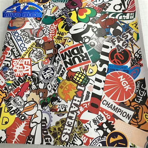 Jdm Sticker Thai Telur aliexpress buy sticker bomb vinyl car wrap graffiti stickerbomb sheets pvc jdm racing car