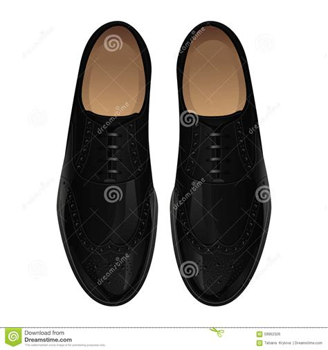 classic black shoes stock vector image 59962326