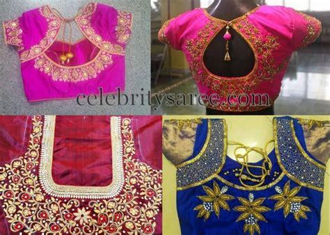 Mazaya Blouse Model 32 11 maggam work silk designer blouses saree blouse patterns