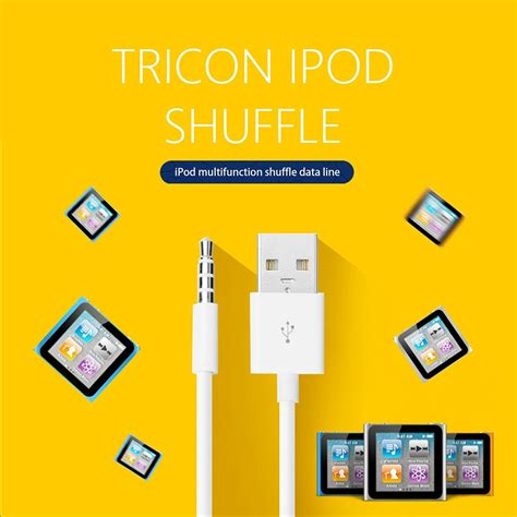 Ipod Shuffle 3 5mm To Usb Cable wholesale ipod shuffle usb charger cable 3 5mm power