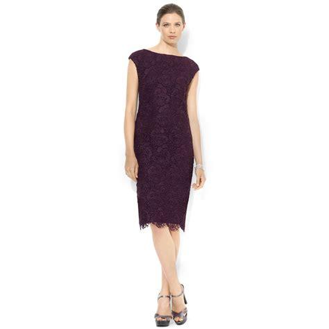Lawren Dress by ralph plus size capsleeve lace dress in
