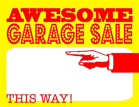 Diy Printable Awesome Garage Sale Signs Yard Sale Signs Templates