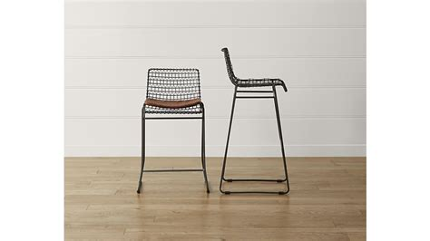 metal bar stools steel counter stools kitchen dining chairs tig metal counter stool crate and barrel