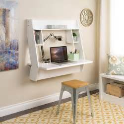 Floating Wall Desk White Studio Wall Mounted Floating Desk From Prepac
